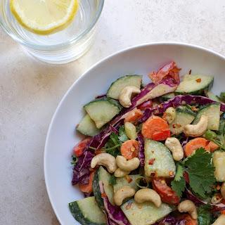 Cucumber Salad + Peanut Citrus Dressing