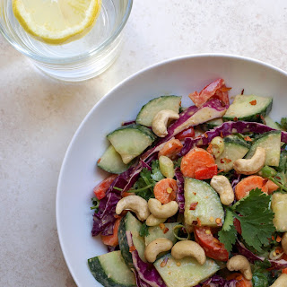Cucumber Salad + Peanut Citrus Dressing.