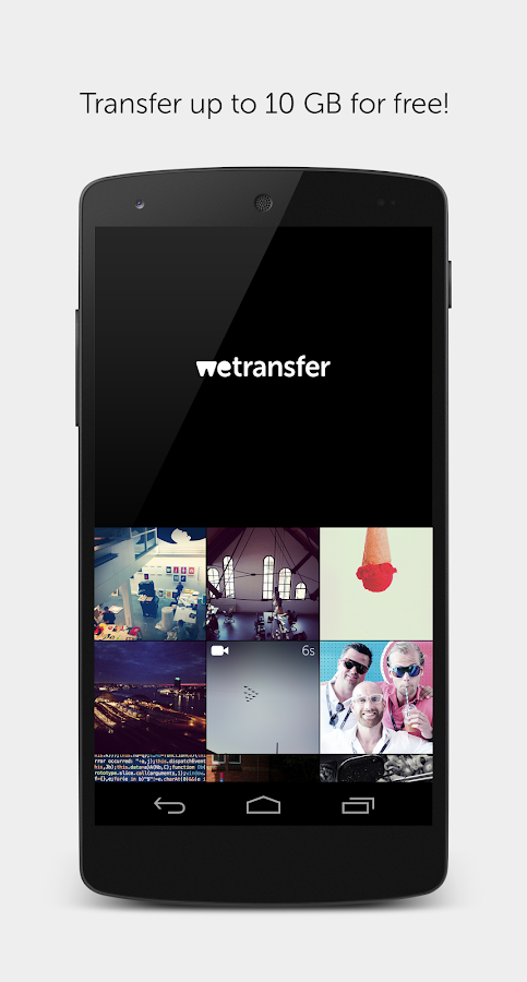 WeTransfer- screenshot