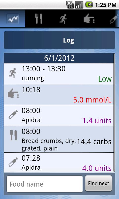 HelpDiabetes: screenshot