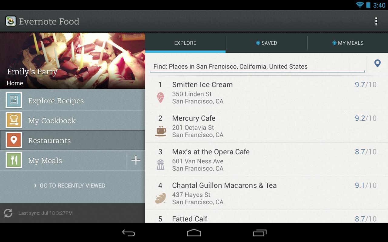 Evernote Food screenshot #7