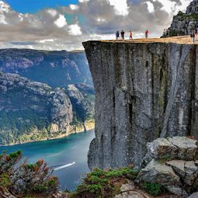 The impressive heights of Preikestolen by Travis Pambu - Landscapes Mountains & Hills (  )