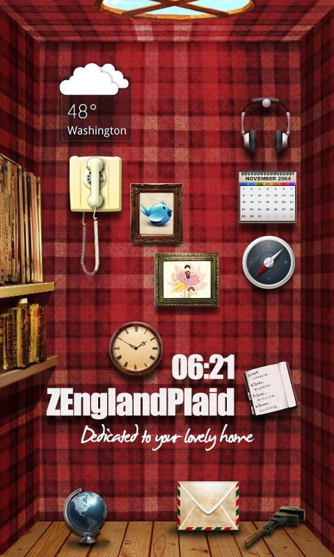 EnglandPlaid GO Reward Theme - screenshot