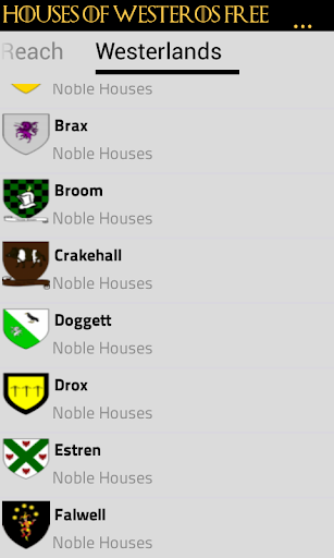 Houses of Westeros Free