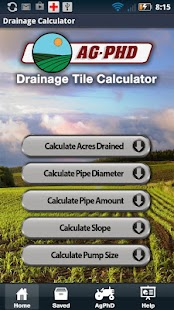 Drainage Tile Calculator- screenshot thumbnail