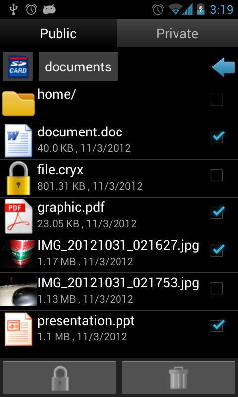 Hide All Files- screenshot