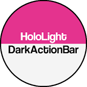 Dark ActionBar Pink CM Theme