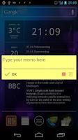 Screenshot of Notification Memo