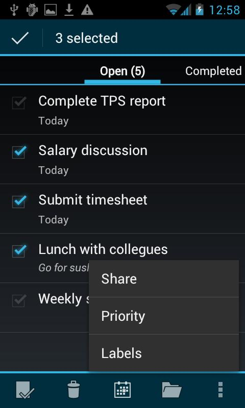 BHive Google Tasks Free- screenshot