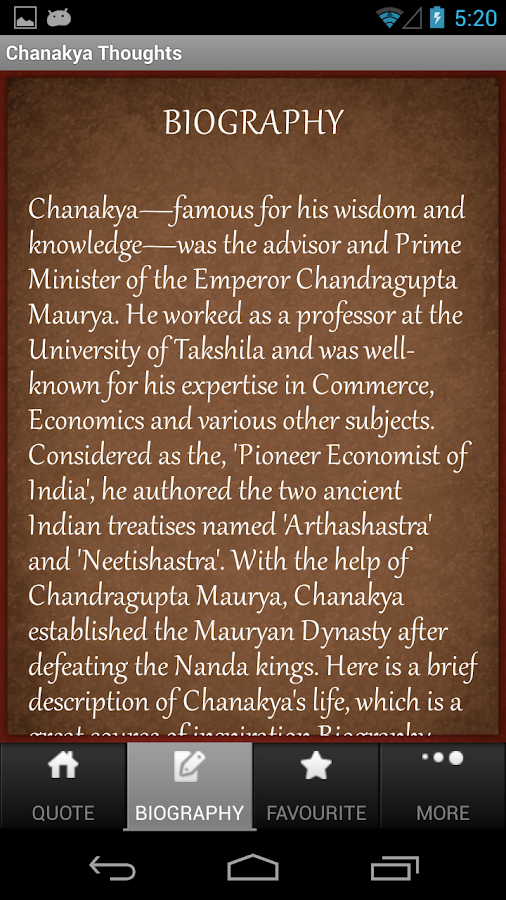 Chanakya Thoughts Lite - screenshot