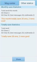 Screenshot of GO SMS Pro Message Counter