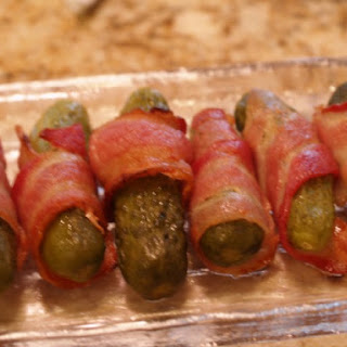Bacon-Wrapped Pickles