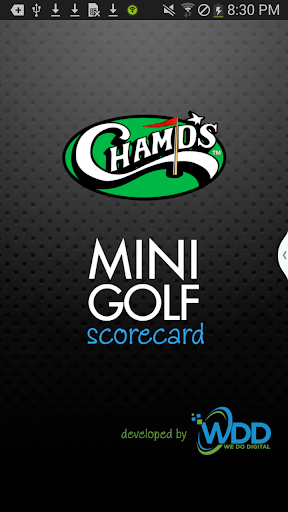 Champs Mini Golf Scorecard