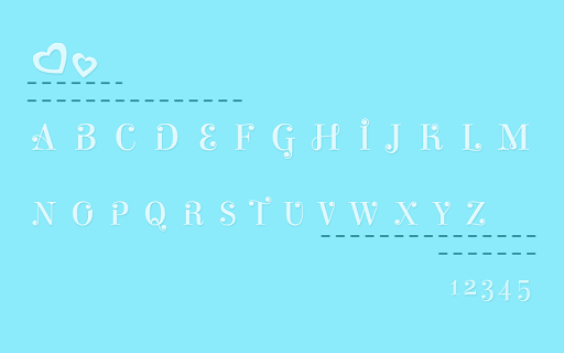 Waterdrop Font
