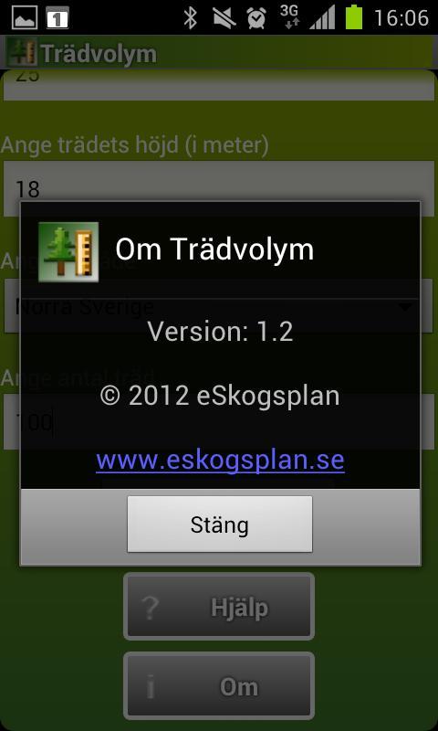 Trädvolym- screenshot