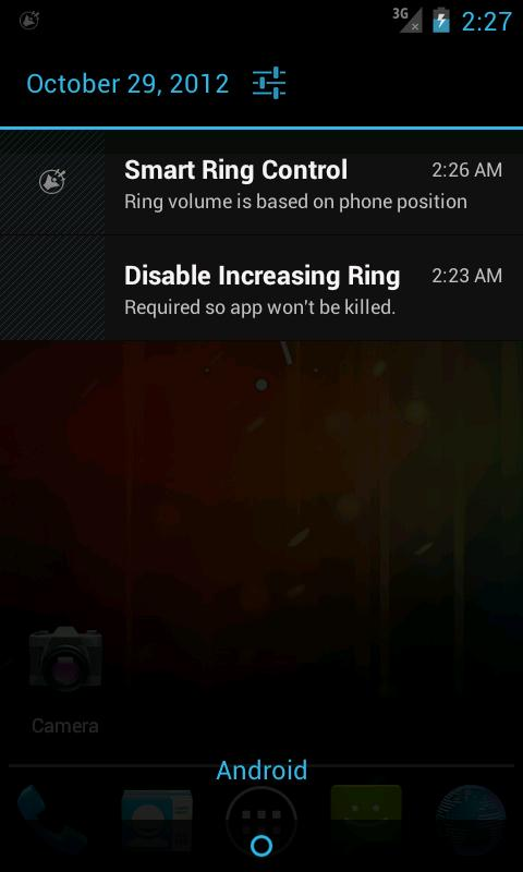 Disable Increasing Ring - screenshot