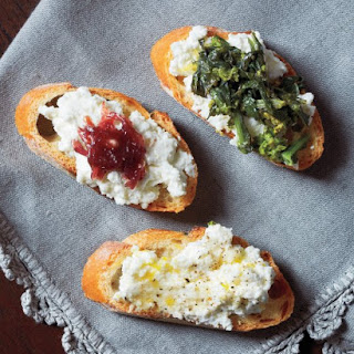 Crostini with Ricotta and Red-Onion Jam.