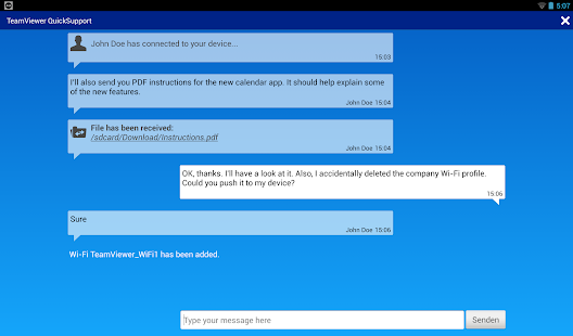 TeamViewer QuickSupport Screenshot 11
