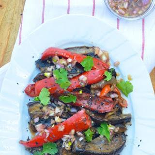 Eggplant & Shiitakes with Soy.