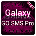 Pink Galaxy GO SMS Theme icon
