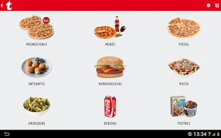 Screenshot of Telepizza