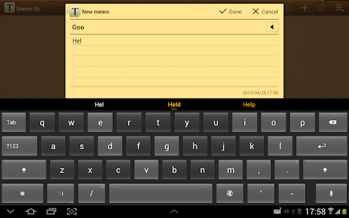 ThickButtons Keyboard- screenshot thumbnail