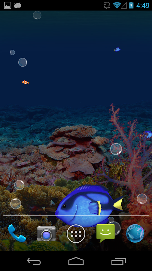 Aquarium LWP - screenshot