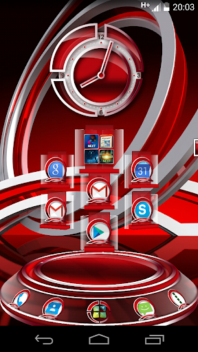 RedLi 3D Next Launcher theme