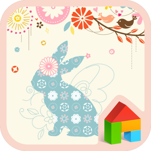 個人化必備App|Flower rabbit Dodol Theme LOGO-綠色工廠好玩App