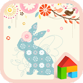 Flower rabbit Dodol Theme