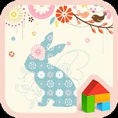 Flower rabbit Dodol Theme