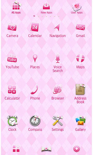 Cute Wallpaper Pink Argyle 1.0 Windows u7528 2