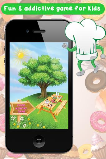 屋台の食べ物楽しいメモリーゲーム無料 - 教育のマッチングゲ