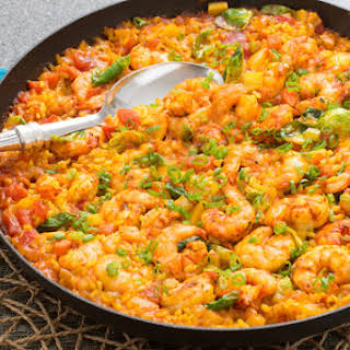 Paella-Style Rice with Shrimp.