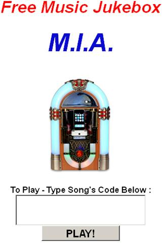 M.I.A. Jukebox - screenshot