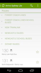 Arrivo Sydney Lite Transit App - screenshot thumbnail