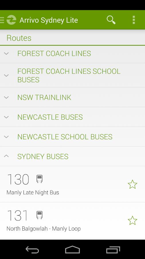 Arrivo Sydney Lite Transit App - screenshot