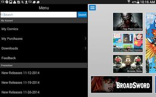 Screenshot of Comics Plus