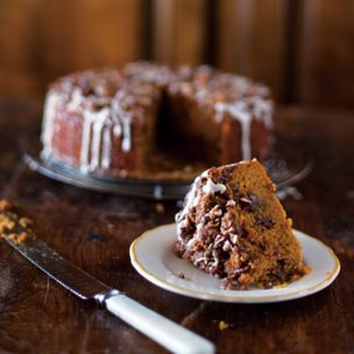 Pumpkin Coffee Cake with Brown Sugar-Pecan Streusel Recipe