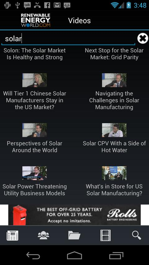 Renewable Energy World - screenshot