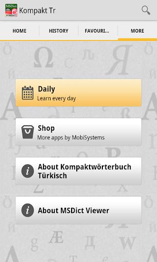 Dictionary TurkishGerman