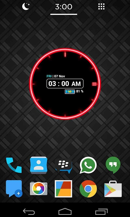Neon Clock Widget [Free] - screenshot