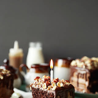 Chocolate Butterscotch Hazelnut Cake.