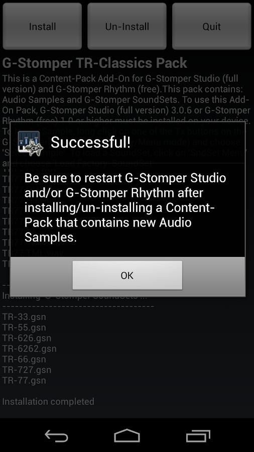 G-Stomper TR-Classics Pack- screenshot
