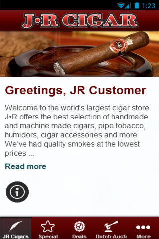 JR Cigars - screenshot