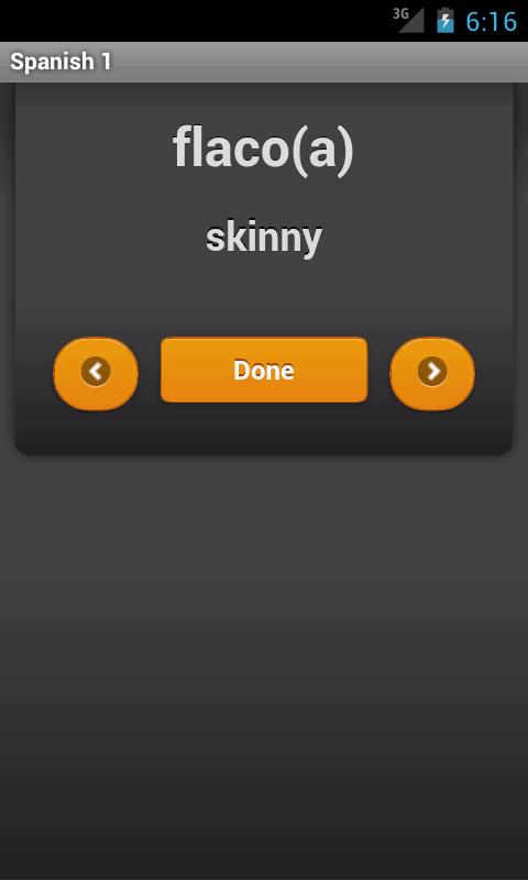 Spanish 1 Vocabulary- screenshot