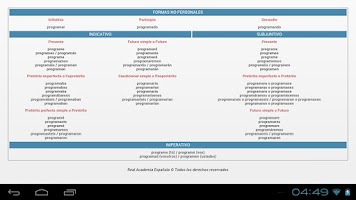Screenshot of Spanish RAE dictionary