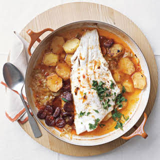 Baked Cod and Chorizo.