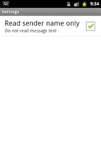 Read it loud! SMS Reader Basic - screenshot thumbnail