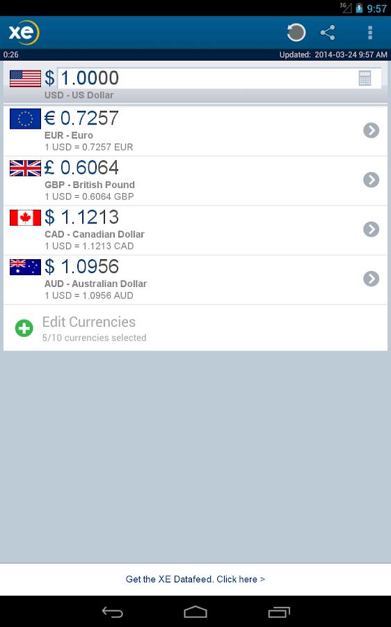 XE Currency- screenshot